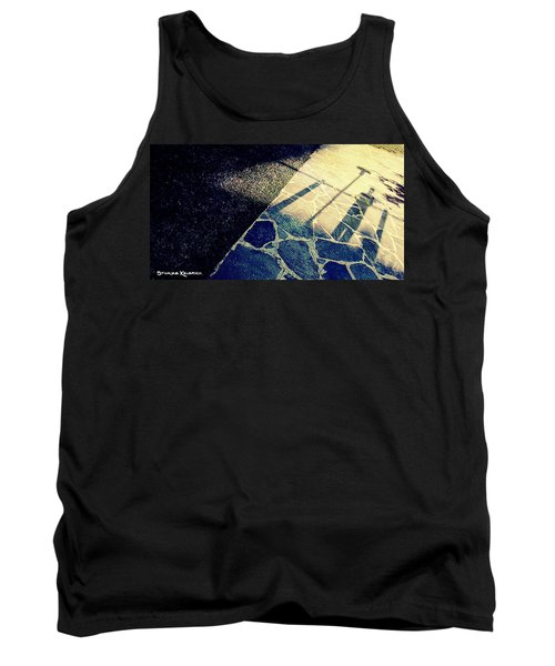 Tank Top featuring the photograph Wait In The Shade by Stwayne Keubrick