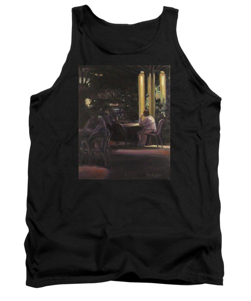 Waiting At The Night Cafe Tank Top by Connie Schaertl