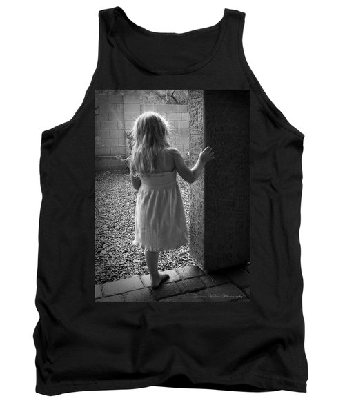 Tank Top featuring the photograph Waiting For The Rain To End  by Lucinda Walter