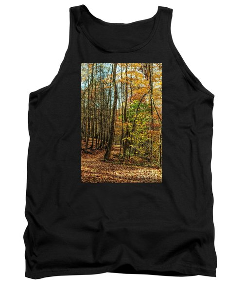 Tank Top featuring the photograph Walking The Mountain Trail by Debbie Green