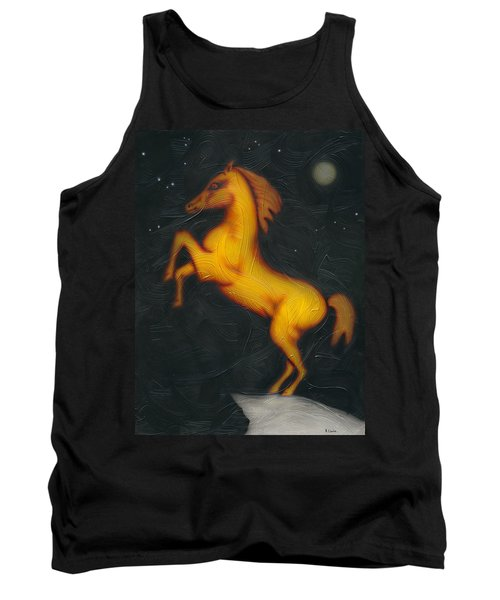 Tank Top featuring the painting War Horse. by Kenneth Clarke