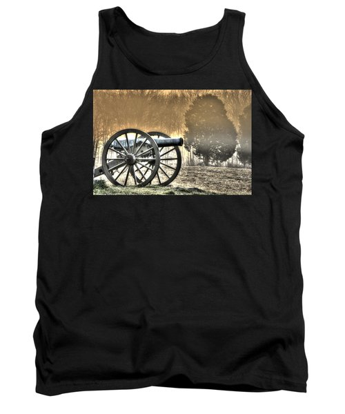 War Thunder - 1st Ny Light Artillery Battery D The Wheatfield Sunrise Morning Mist Gettysburg Tank Top