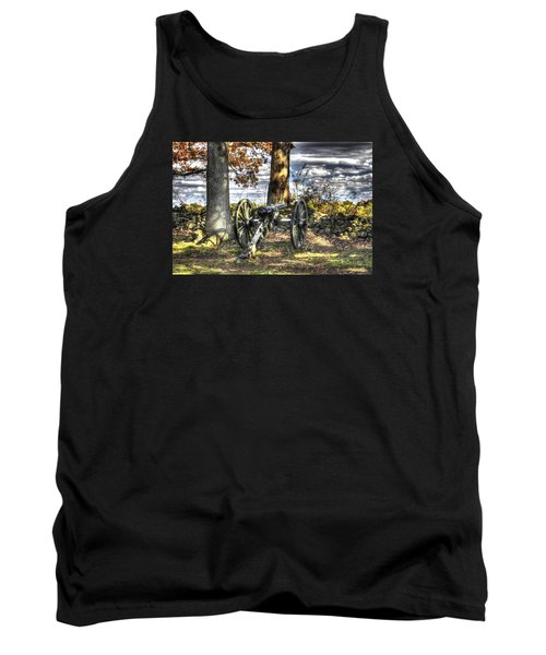 Tank Top featuring the photograph War Thunder - Lane's Battalion Ross's Battery-b1 West Confederate Ave Gettysburg by Michael Mazaika