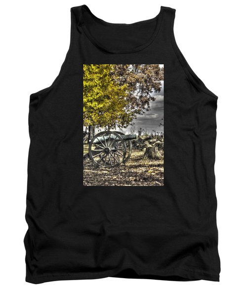 Tank Top featuring the photograph War Thunder - The Purcell Artillery Mc Graw's Battery-a2 West Confederate Ave Gettysburg by Michael Mazaika