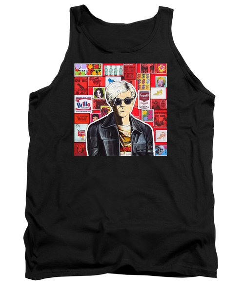 Tank Top featuring the mixed media Warhol by Joseph Sonday