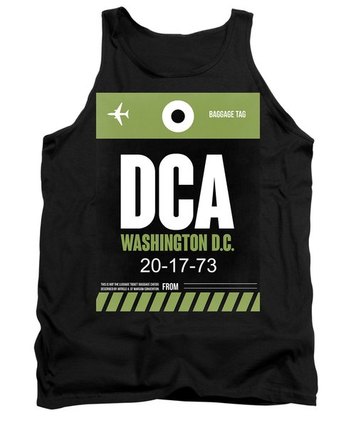 Washington D.c. Airport Poster 2 Tank Top by Naxart Studio