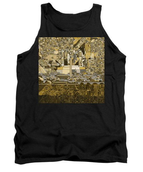 Washington Dc Skyline Abstract 4 Tank Top