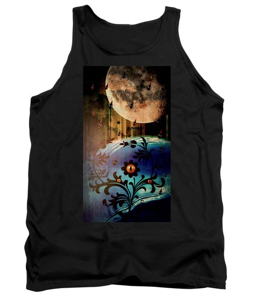 Tank Top featuring the mixed media Watching by Ally  White