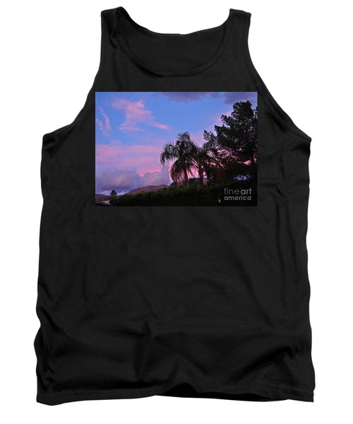 Water Colored Sky Tank Top by Jay Milo