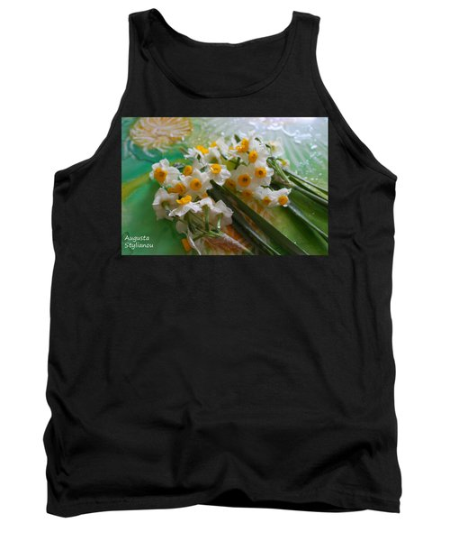 Water Drops On A Bouquet Tank Top