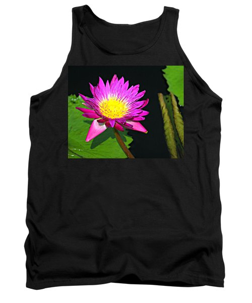 Tank Top featuring the photograph Water Flower 10089 by Marty Koch