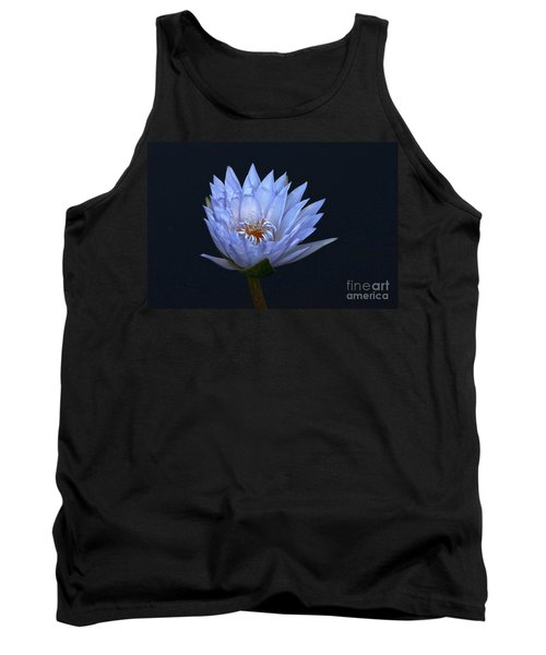 Water Lily Shades Of Blue And Lavender Tank Top