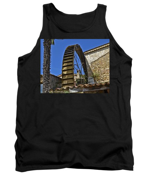 Tank Top featuring the photograph Water Wheel At Moulin A Huile Michel by Allen Sheffield