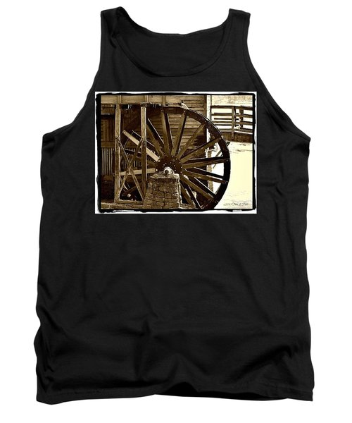 Tank Top featuring the photograph Water Wheel At The Grist Mill by Tara Potts