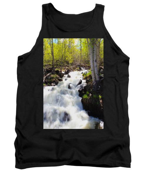 Waterfall By The Aspens Tank Top