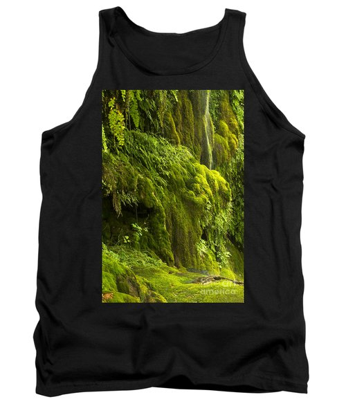 Tank Top featuring the photograph Waterfall In Green by Bryan Keil