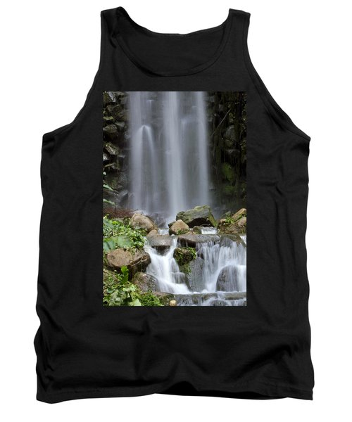 Tank Top featuring the photograph Waterfall In Singapore by Shoal Hollingsworth