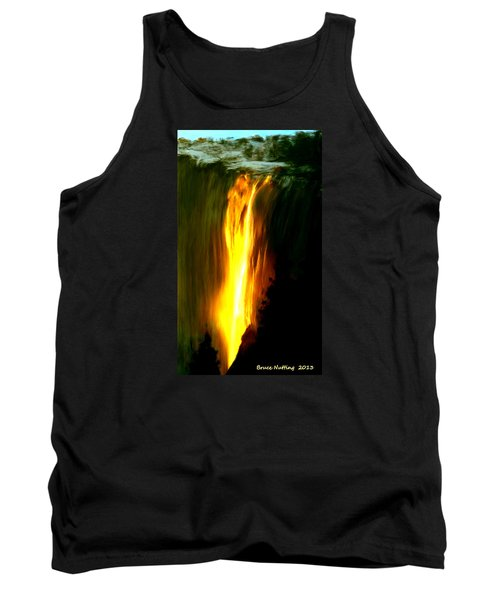 Tank Top featuring the painting Waterfalls By Light by Bruce Nutting
