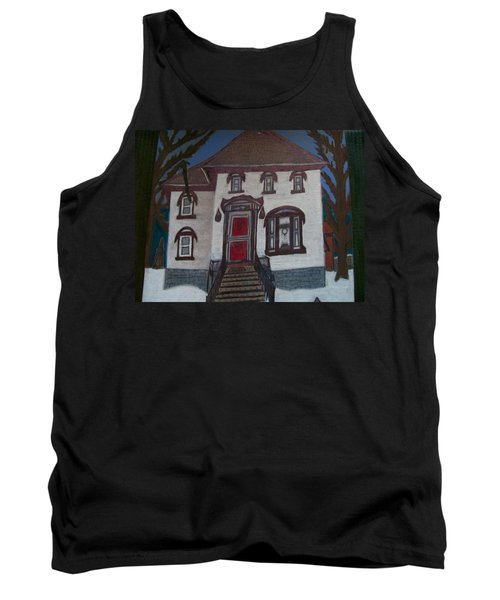 Tank Top featuring the drawing Historic 7th Street Home In Menominee by Jonathon Hansen
