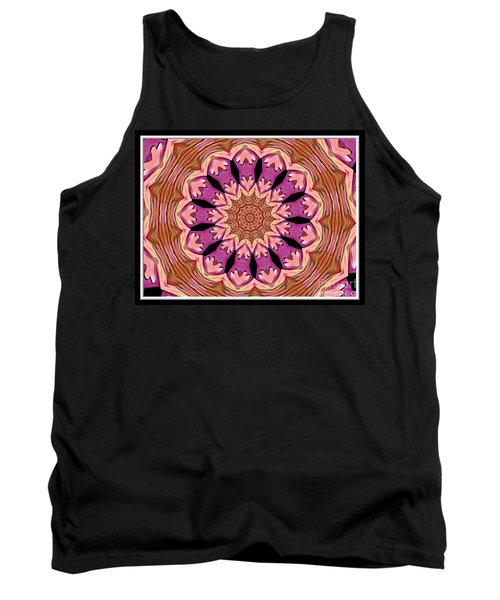 Tank Top featuring the photograph Waterlily Flower Kaleidoscope 2 by Rose Santuci-Sofranko