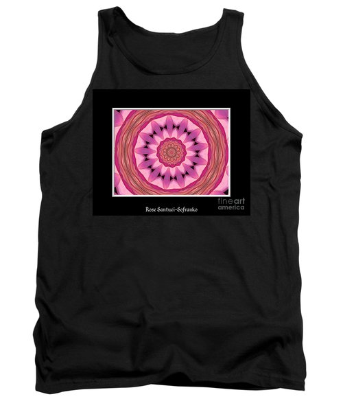 Tank Top featuring the photograph Waterlily Flower Kaleidoscope 3 by Rose Santuci-Sofranko