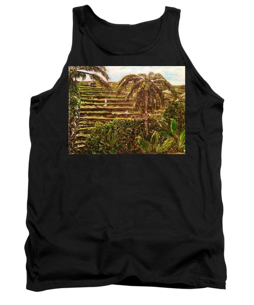 Tank Top featuring the painting We Work Hard For The Money by Belinda Low