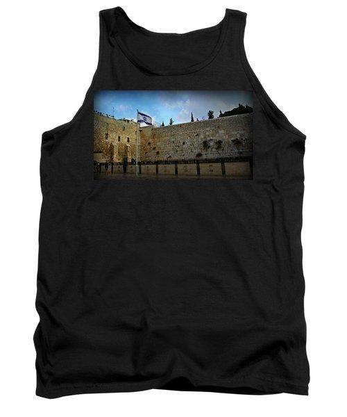 Western Wall And Israeli Flag Tank Top