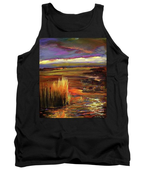 Wetlands Sunset Iv Tank Top