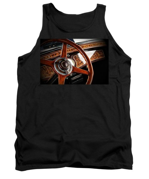 Classic Car Tank Top featuring the photograph Wheel To The Past by Aaron Berg