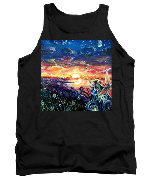 Tank Top featuring the painting Where The Fairies Play by Shana Rowe Jackson