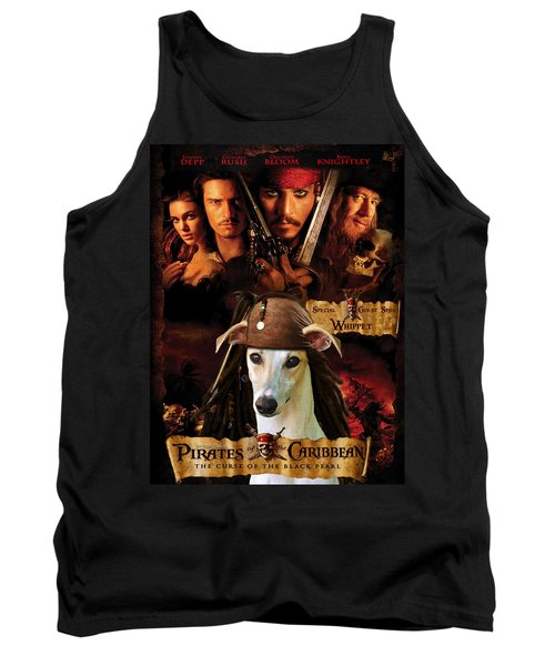 Whippet Art - Pirates Of The Caribbean The Curse Of The Black Pearl Movie Poster Tank Top