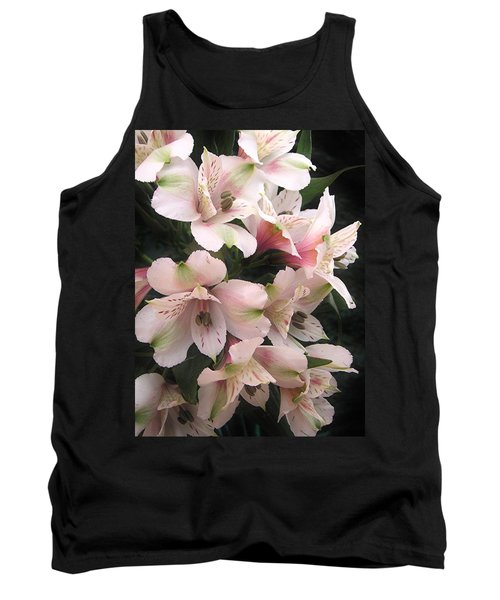 Tank Top featuring the photograph White And Pink Peruvian Lilies by Diane Alexander