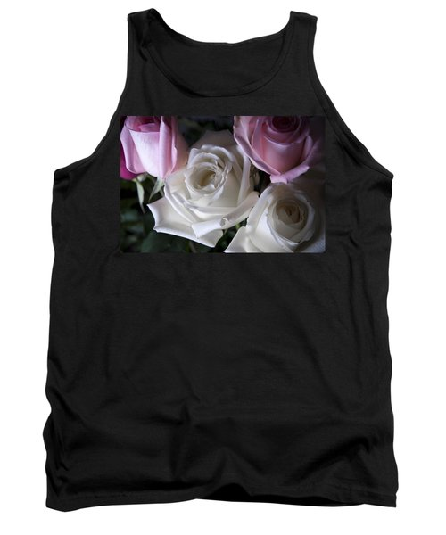Tank Top featuring the photograph White And Pink Roses by Jennifer Ancker