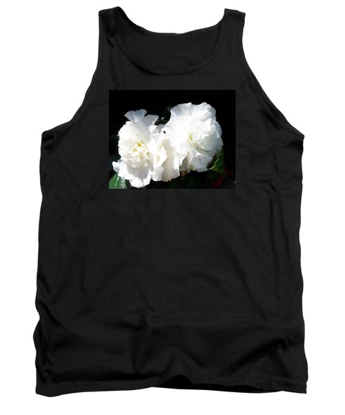 Tank Top featuring the photograph White Begonia  by Sharon Duguay