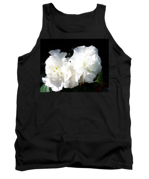 White Begonia  Tank Top