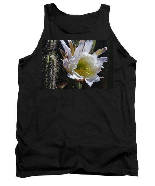 White Cactus Bloom Tank Top
