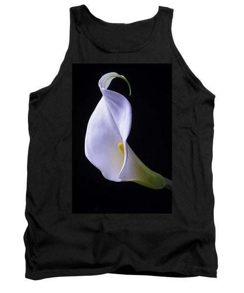 White Calla Lily Portrait Tank Top