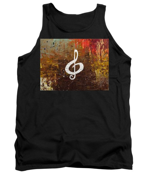White Clef Tank Top