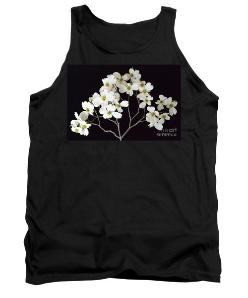 Tank Top featuring the photograph White Dogwood Branch by Jeannie Rhode