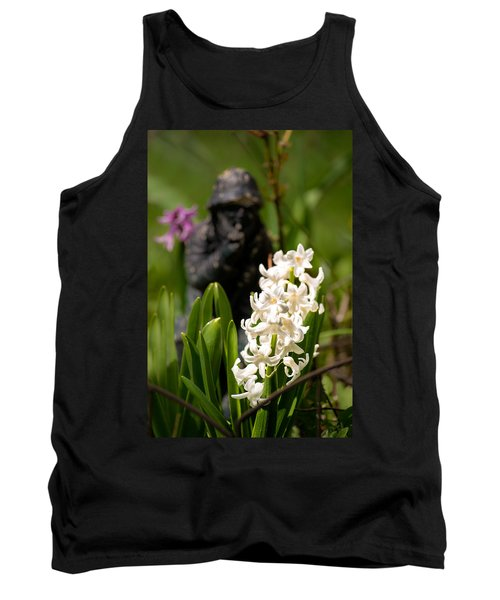 White Hyacinth In The Garden Tank Top