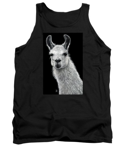 White Llama Tank Top