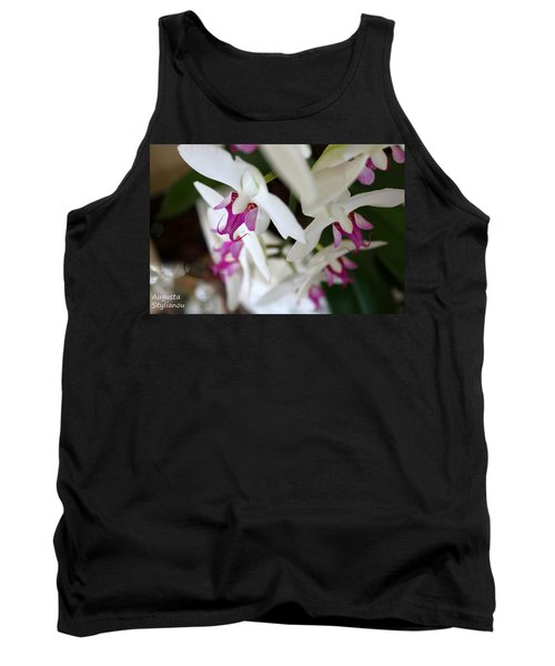 White Orchid From Obove  Tank Top