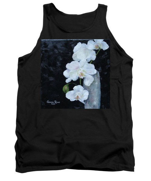 White Orchid Tank Top by Judith Rhue