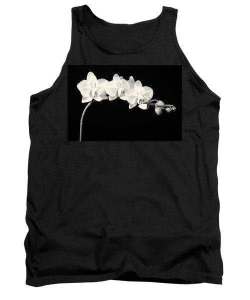White Orchids Monochrome Tank Top