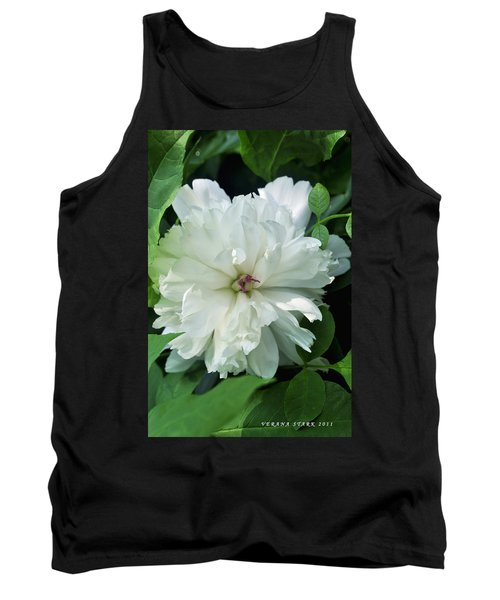 Tank Top featuring the photograph White Peonese by Verana Stark