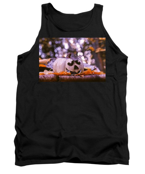 Tank Top featuring the photograph White Pumpkin by Aaron Aldrich