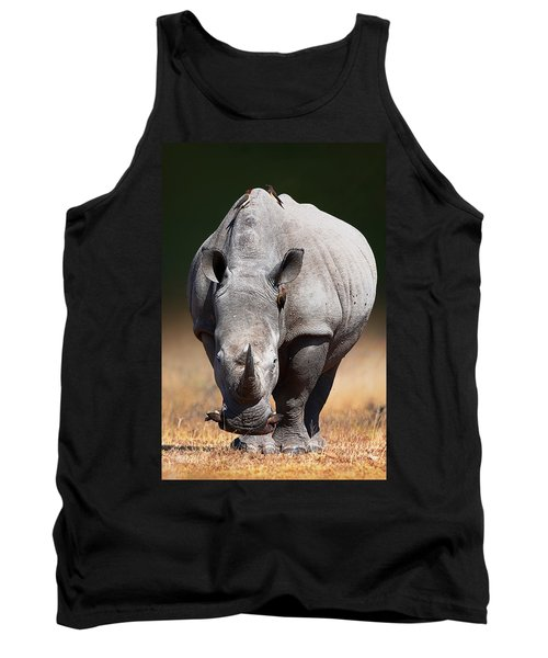 White Rhinoceros  Front View Tank Top