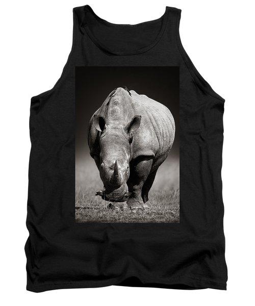 White Rhinoceros  In Due-tone Tank Top