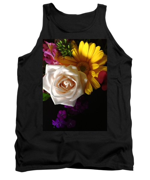 Tank Top featuring the photograph White Rose by Meghan at FireBonnet Art