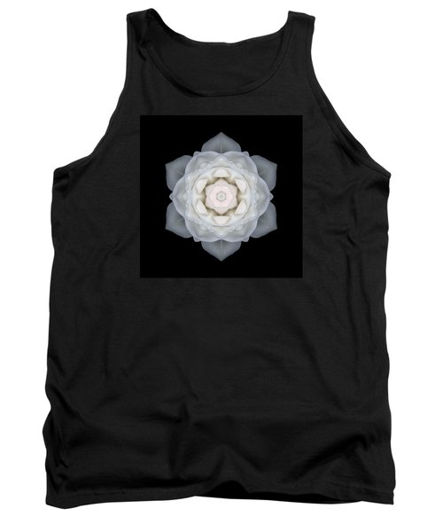 White Rose I Flower Mandala Tank Top